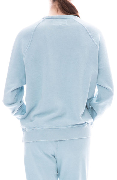 The Great Swan College Sweatshirt in Pale Blue at Ron Herman