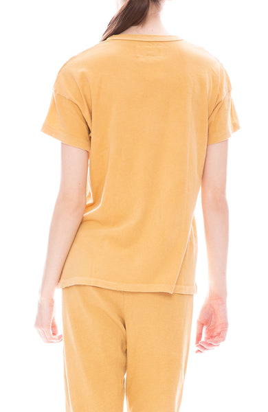 The Great Boxy Crew Tee in Safflower at Ron Herman