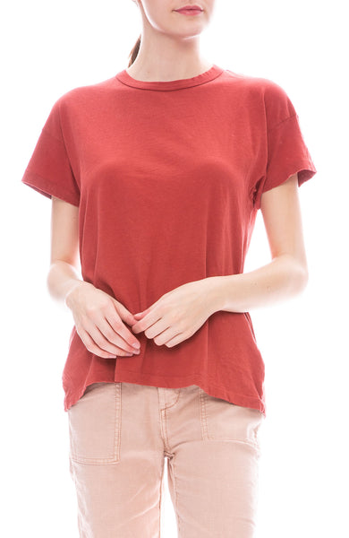 The Great Boxy Crew Tee in Brick Red at Ron Herman