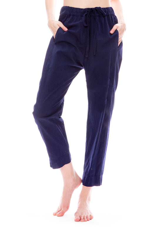 Xirena Draper Poplin Pants in Light Night Navy