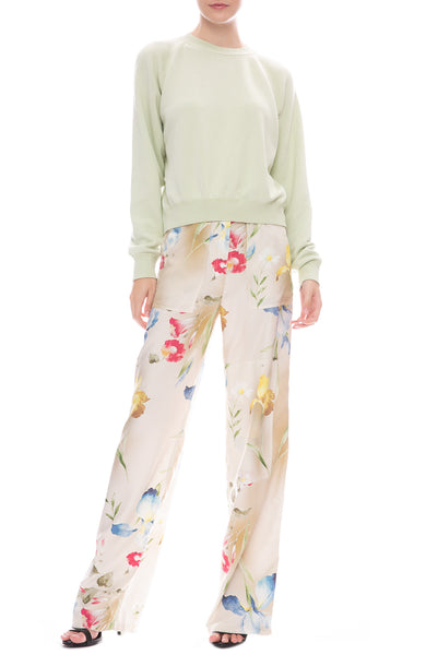 John Elliott Laurel Belted Trouser Pants with Pullover Sweatshirt