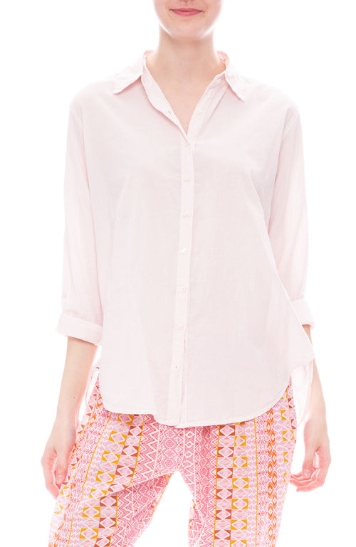 Xirena Beau Poplin Shirt in First Sight Blush Pink