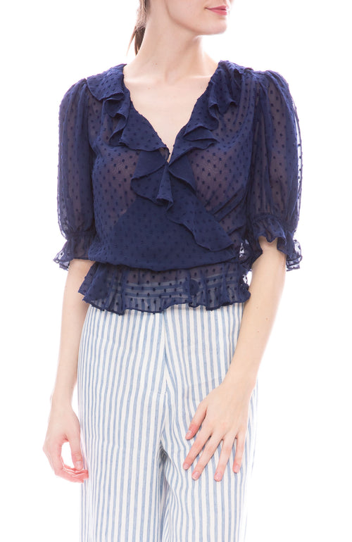 Icons Cha Cha Blouse in Bright Navy