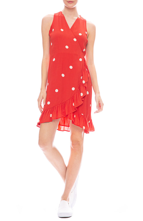 Rails Madison Polka Dot Dress in Scarlet