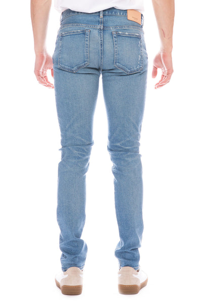 Moussy Vintage Mens MV Linfield Skinny Jean in Light Blue Wash