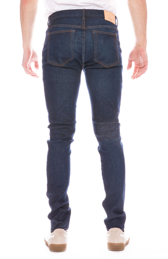 Moussy Vintage Mens MV Bloomfield Skinny Jean in Dark Blue Wash