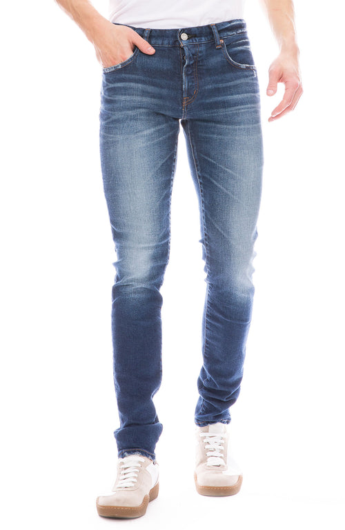 Moussy Vintage Mens MV Faywood Skinny Jean in Blue