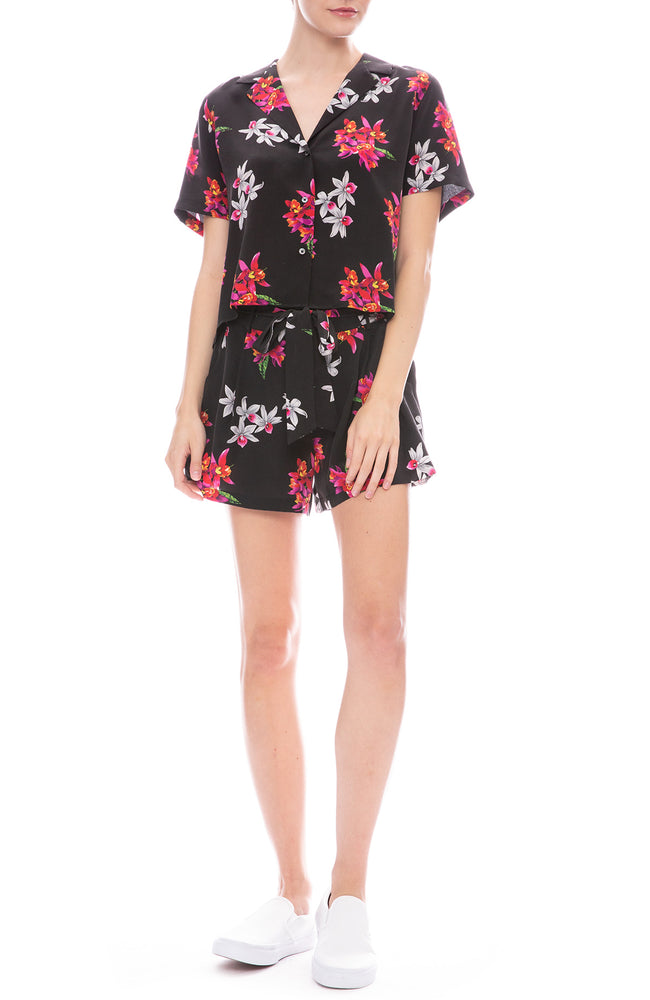 Rails Wild Orchid Print Gigi Shorts and Shirt