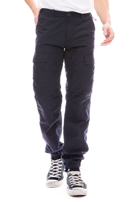 Carhartt WIP Mens Aviation Cargo Pants in Navy
