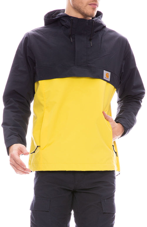 Carhartt WIP Mens Nimbus Dark Navy and Yellow Two Tone Jacket