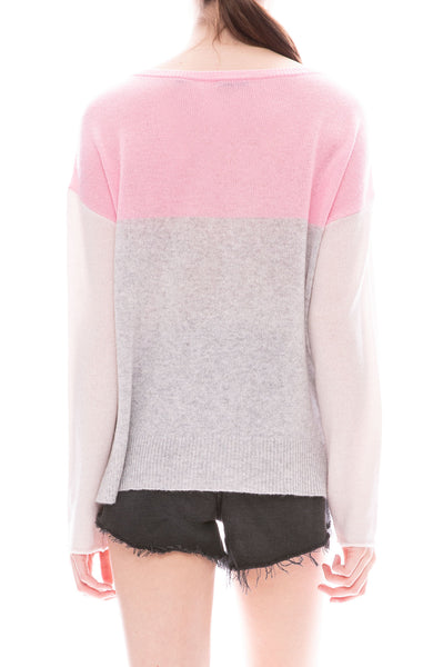 ATM Colorblock Cashmere Sweater at Ron Herman