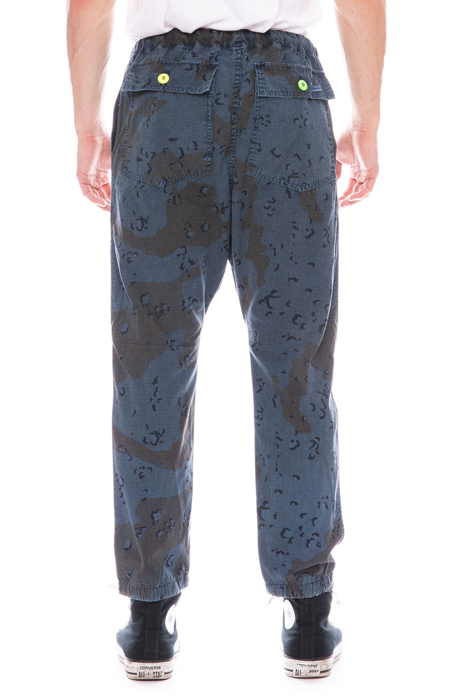 Dr. Collectors Drop Crotch Camouflage Pants in Indigo