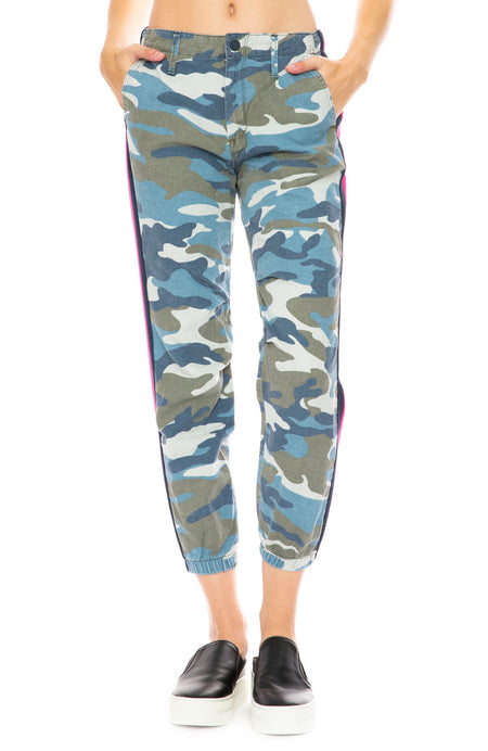 Misfit Pant in Army Blue Camo