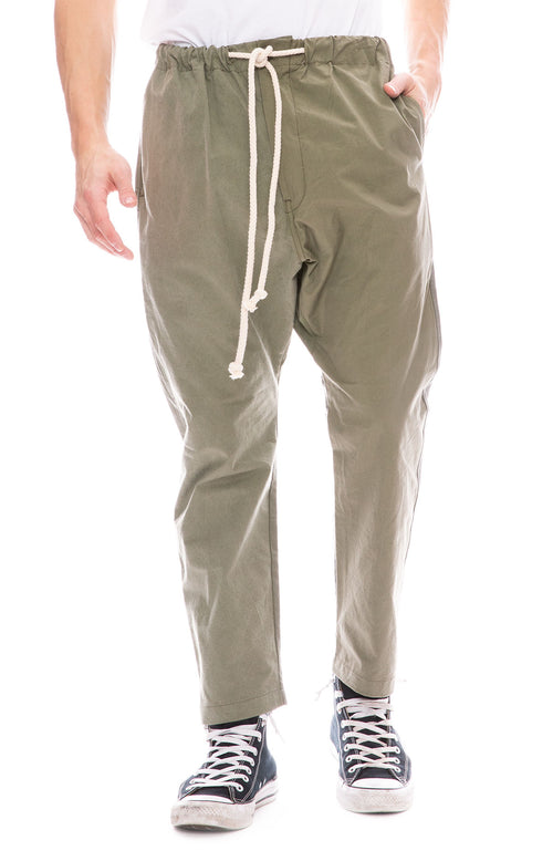 Dr. Collectors Drop Crotch Pants in Olive Green