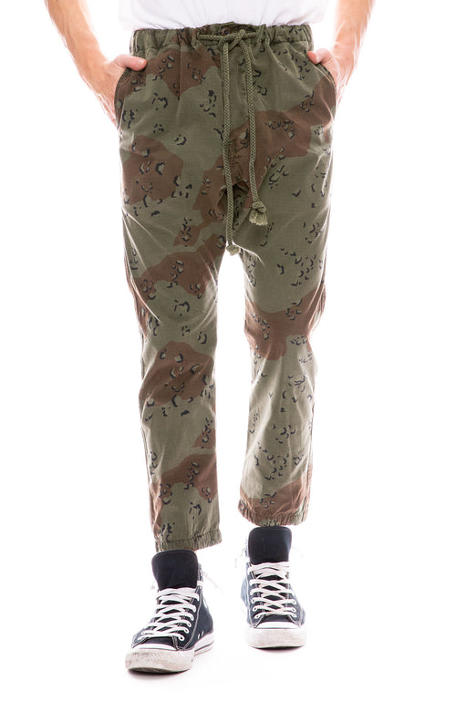 Dr. Collectors Drop Crotch Camouflage Pants in Green