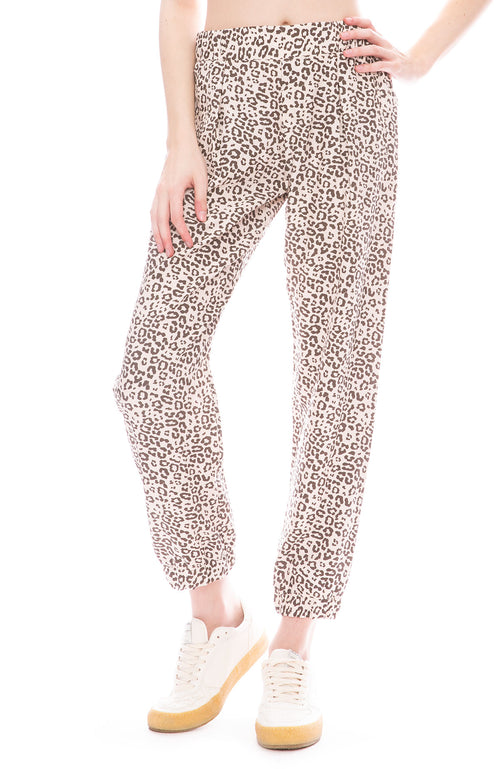 ATM Leopard Silk Pant in Lunar Combo at Ron Herman