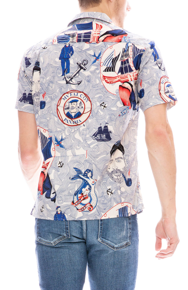 Gitman Bros Vintage Lost At Sea Short Sleeve Camp Shirt
