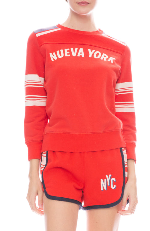 Mother Half and Half Koozie Pullover Sweatshirt in Nueva York