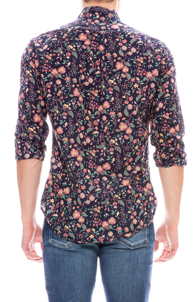 Gitman Bros Vintage Navy Floral Long Sleeve Button Down Shirt