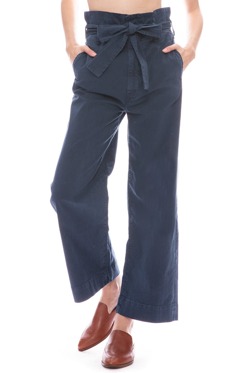 Mother PaperBag Greaser Pant in Navy