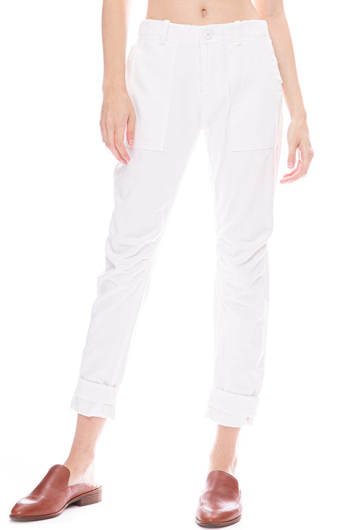 Le Superbe Casbah Cargo Pant in White