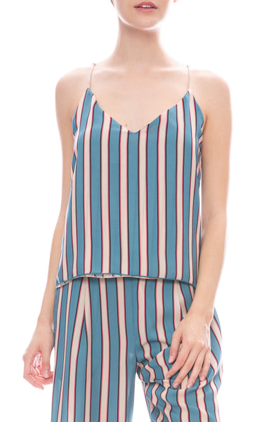 Le Superbe Silk Stripe Club Camisole