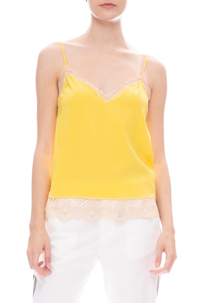 Le Superbe Abbot Lace Cami in Yellow