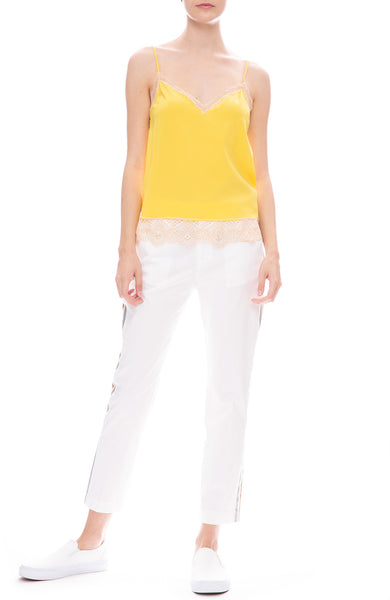 Le Superbe Abbot Lace Cami with St Honore Pants in White