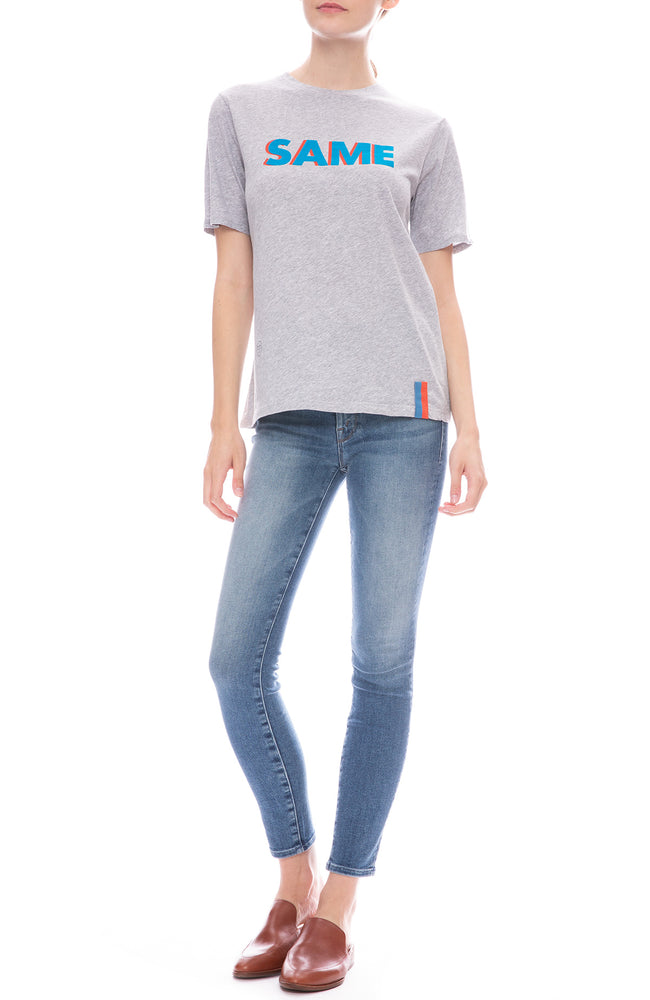Kule Same Print Modern Tee in Heather Grey