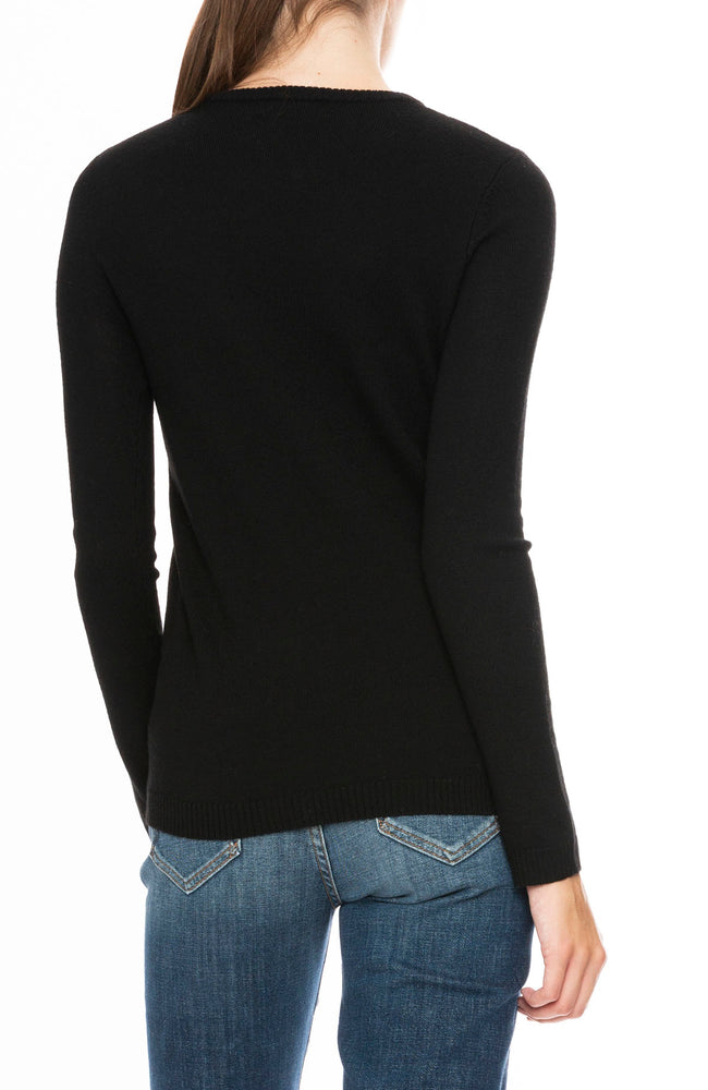 Bella Freud Wool Dog Sweater in Black