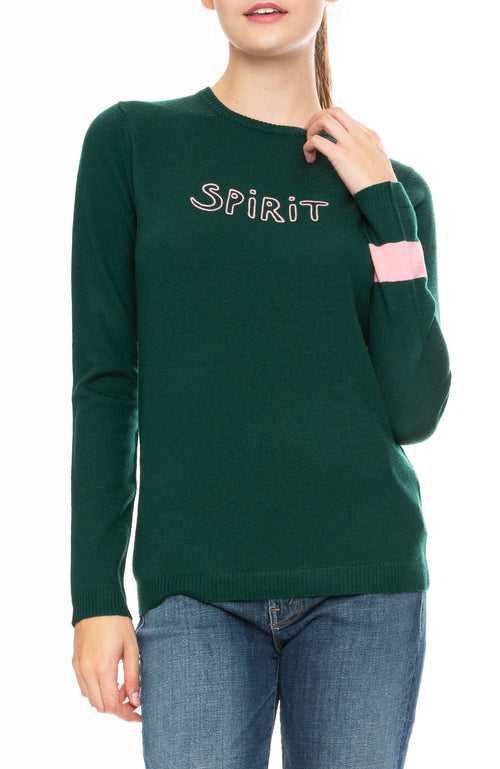 Bella Freud Wool Spirit Sweater in Bentley Green