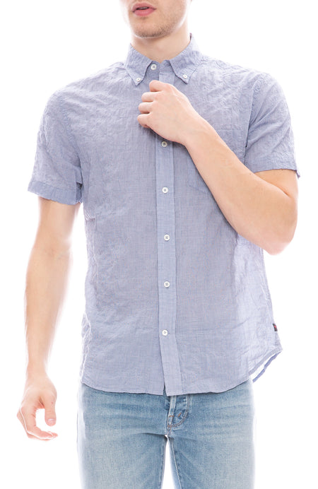 Rumpled Short Sleeve Madras Shirt