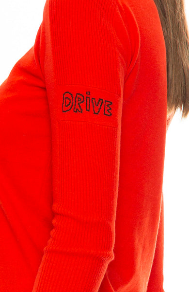 Bella Freud Speed Sweater in Red