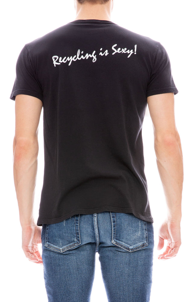 RXMANCE Mens Short Sleeve Cancun T-Shirt in Washed Black
