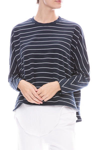 Frank & Eileen Tee Lab Long Sleeve Striped Tee in Navy with White Stripes