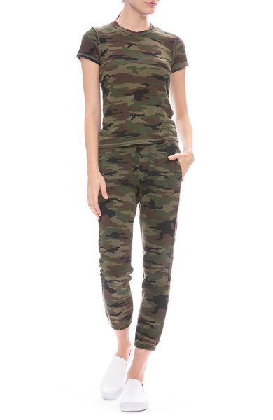 NSF Sayde Camouflage Print Sweatpants and T-Shirt
