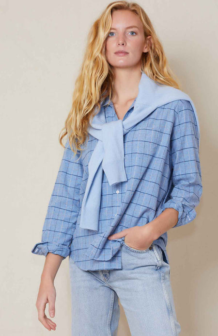 Eileen Cotton Plaid Shirt