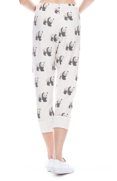 Pandas Cozy Cropped Sweatpants
