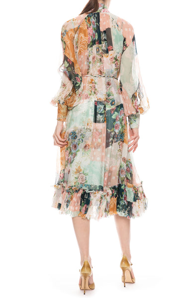 Wavelength Floral Patchwork Midi Dress