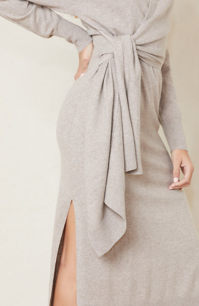 Skyla Loungewear Knit Wrap Dress