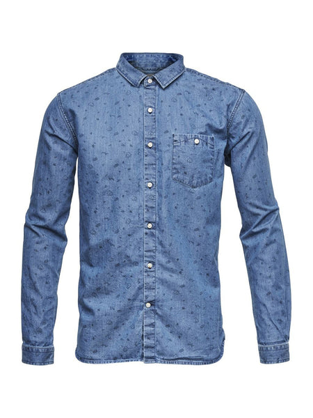 Chambray Allover Print Shirt
