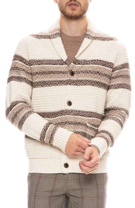 Shetland Striped Cardigan