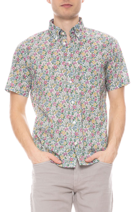 Side Short Sleeve Liberty Print Shirt