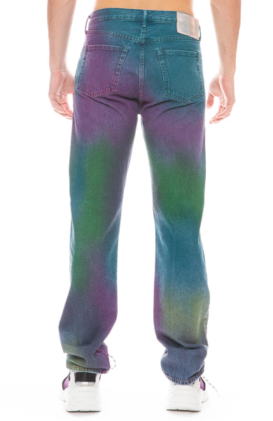 Blå Konst 1996 Rainbow Spray Jeans