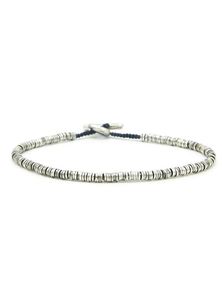 Mini Sterling Silver Disc Bracelet