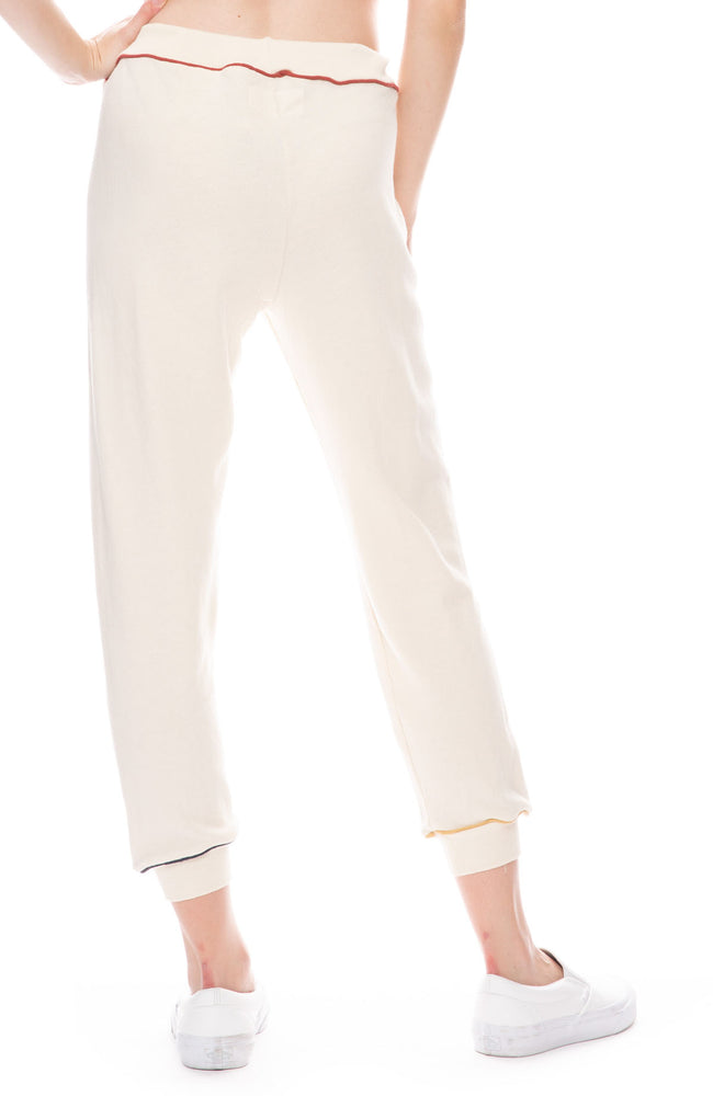 Cropped Sweatpant with Colored Piping