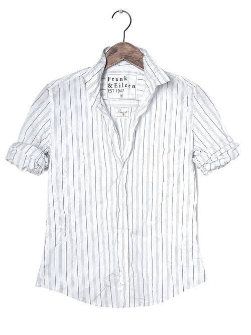Womens Barry Multi Striped Italian Poplin Shirt