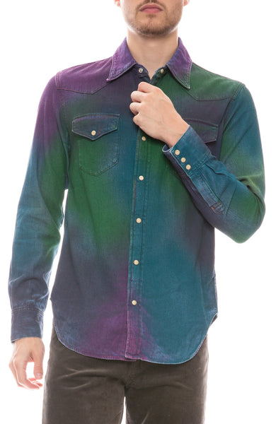 2001 Rainbow Spray Shirt