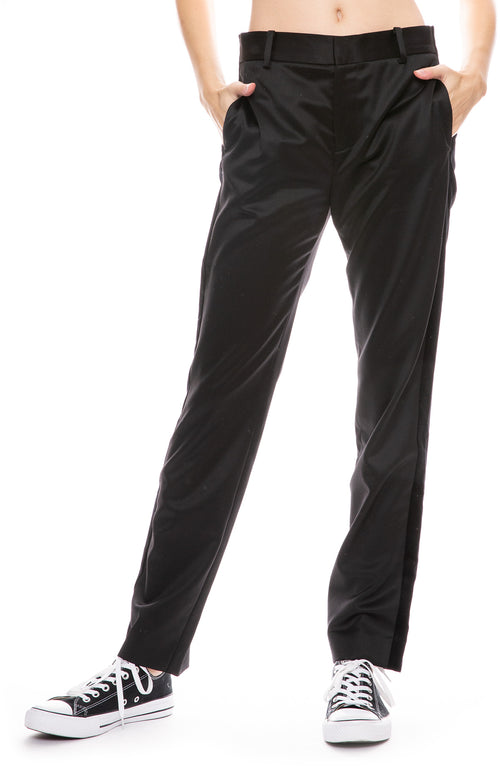 Satin Velvet Tux Rocker Trouser