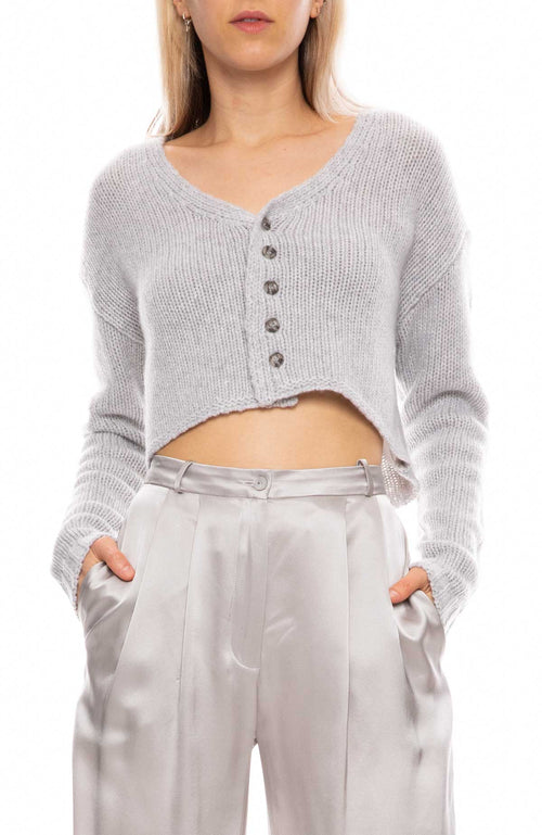 Bianco Cropped Sweater
